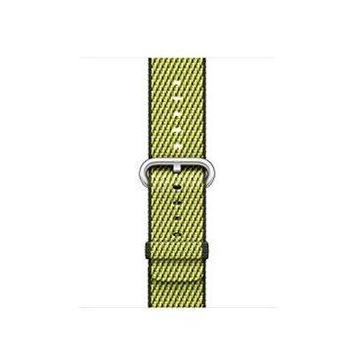 Apple Watch 38mm Naylon Dokuma Kordon K.Yeşil Kayı
