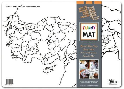 Akademi Çocuk Funny Mat - Türkiye Dilsiz Haritası