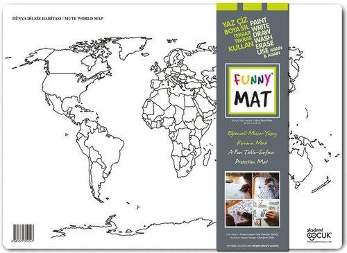 Akademi Çocuk-Funny Mat Dünya Dilsiz Haritası