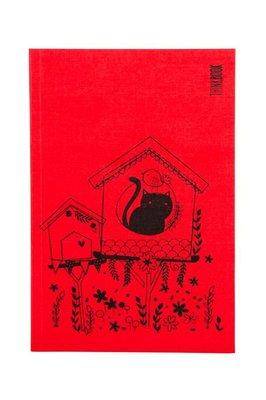 Thinkbook Kırmızı Seri Büyük Kedi ve Kuş 13x19 Defter