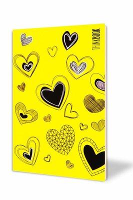 Thinkbook Hayatın Renkleri Küçük Sarı Kalpler 10x14 Defter