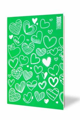 Thinkbook Hayatın Renkleri Küçük Yeşil Kalpler 10x14 Defter