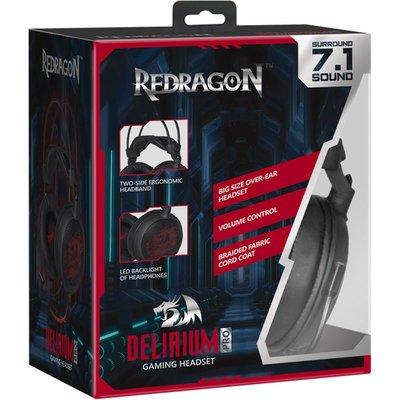 Redragon  Derilium 7.1  Oyuncu Kulaklık  virtual 2 m kablo