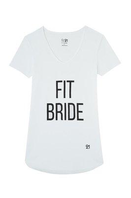 Fit21 Basic Kısa Kollu Fit Bride Tshirt Beyaz