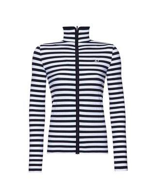 Fit21 Siyah Beyaz Çizgili Sweatshirt Siyah Şerit WSW1S15