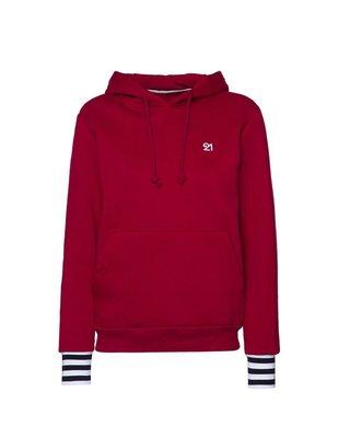 Fit21 Hoodie Sweatshirt Bordo WHD1S05