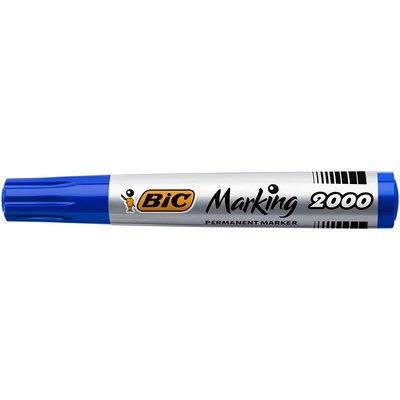 Bic 2000 Permanent Yuvarlak Uç Mavi Markör Kalem