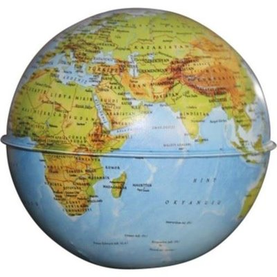 Gürbüz Globe Bank Fiziki Küre Kumbara10 cm.