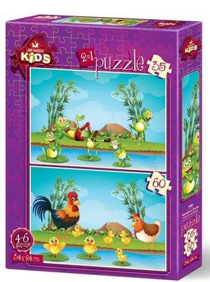 Art Kids-Puz.35+60 Hayvanlar ve Yavruları 24x34cm 4496