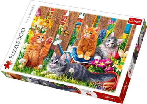 Trefl-Puz.500 Kittens in the Garden 48x34cm 37326