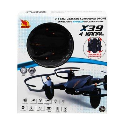 Rastar-R/C Drone 4 Kanal 2.4Ghz Usb Şarjlı Katlanabilir Işıklı Kçk.Bcp.