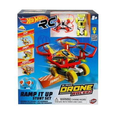 Rastar-R/C Drone Racerz Araçlı/Rampa Set 2.4Ghz Usb Şarjlı/Işıklı (Hwhl)