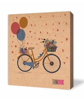 Thinkbook Natura Kraft Balon ve Bisiklet 9x10 Defter