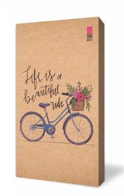 Thinkbook Natura Kraft Çiçekli Bisiklet 10x18 Defter