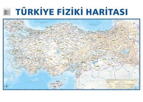 Mep Medya-Türkiye Siyasi-Türkiye Fiziki Çift Taraflı(Duvar Haritası) 50x70cm