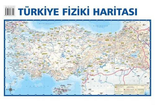 Mep Medya-Türkiye Siyasi-Türkiye Fiziki Çift Taraflı(Duvar Haritası) 50x35cm