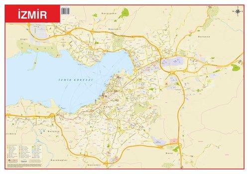 Mep Medya-İzmir-Türkiye Fiziki Haritası 70x100cm