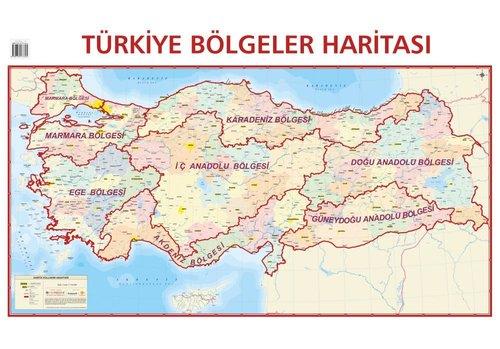 Mep Medya-Türkiye Bölgeler Haritası 70x100cm