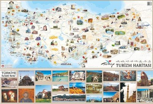 Mep Medya-Türkiye Turizm Haritası 70x100cm