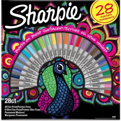Sharpie Fine Permanent Markör 28li Kutu Tavus Kuşu