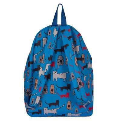 Biggdesign Kedi Desenli Mavi Sırt Çantası