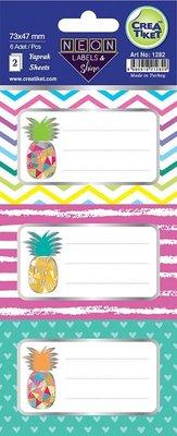 Crea Etiket Neon-Ananas