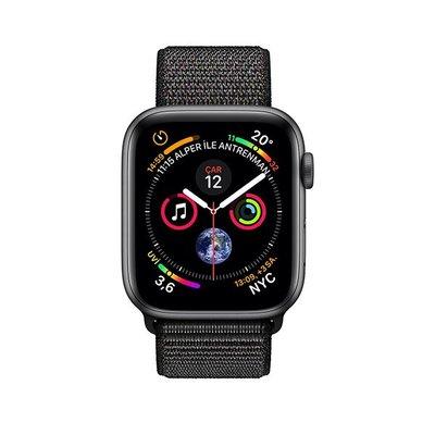 Apple Watch Seri 4 GPS 44mm Uzay Grisi Alüminyum Kasa Siyah Spor Kordon MU6E2TU/A