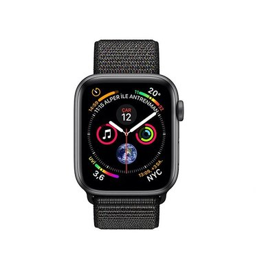 Apple Watch Seri 4 GPS 40mm Uzay Grisi Alüminyum Kasa ve Siyah Spor Kordon MU672TU/A