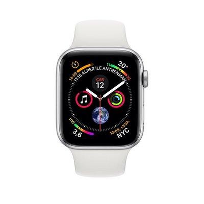 Apple Watch Seri 4 GPS 44mm Gümüş Alüminyum Kasa Beyaz Spor Kordon MU6A2TU/A