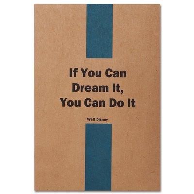 Container QuotesOnKraft A5 32 Yaprak Noktalı You Can Do It