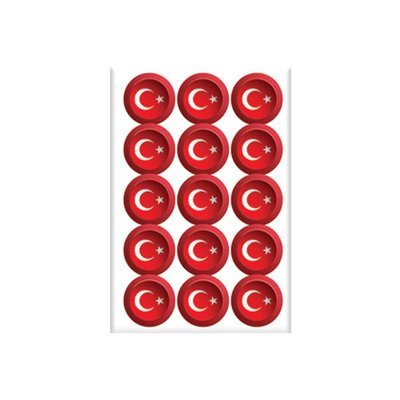 Keskin Color 8*12 Damla Çıkartma-Yuvarlak Bayrak