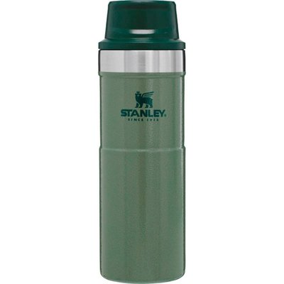 Stanley-Classic Trigger-Action Travel Mug 0.47L Hammertone Green