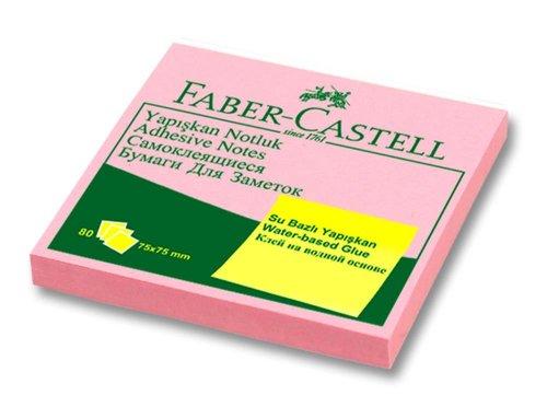 Faber-Castell Yapışkan Notluk Harmony 75x75mm, Pembe