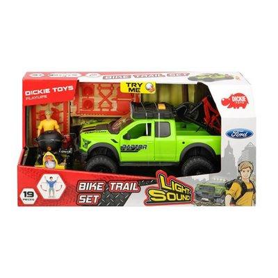 Simba - 1-24 Dickie Bike Trail Set Ford Raptor Sesli-Işıklı