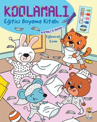 Eğlenceli Evim 4-5 Yaş-Kodlamalı Eğitici Boyama Kitabı-2.Seviye