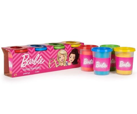Barbie Oyun Hamuru 4 lü Paket (4x100 Gr)