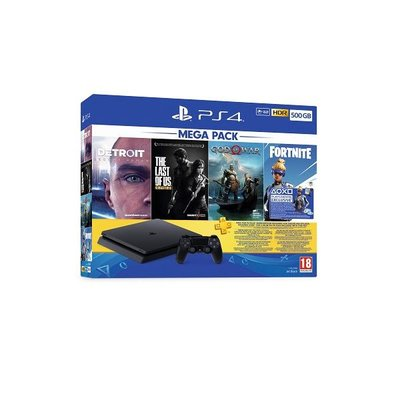 Sony PS4 500 GB + 4 Oyun Gow/Det/Tlour/Fortvch/Ps+3M