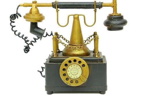 Mnk Dekoratif MetalTelefonKumbaralı