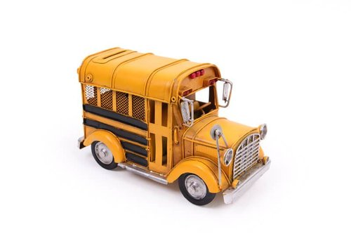 Dekoratif Metal Araba Okul Otobüsü