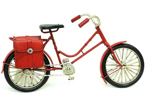 Dekoratif Metal Bisiklet Çantalı