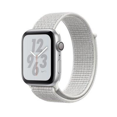 Apple Watch Nike+ Series 4 GPS 44 mm Gümüş Rengi Alüminyum Kasa ve Zirve Beyazı Nike Spor Loop MU7H2TU/A