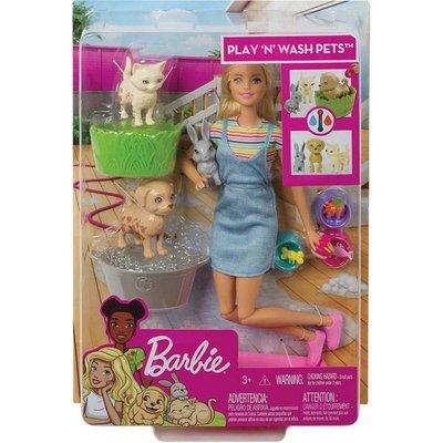 Barbie ve Hayvanları Banyo Eğlencesinde Oyun Seti