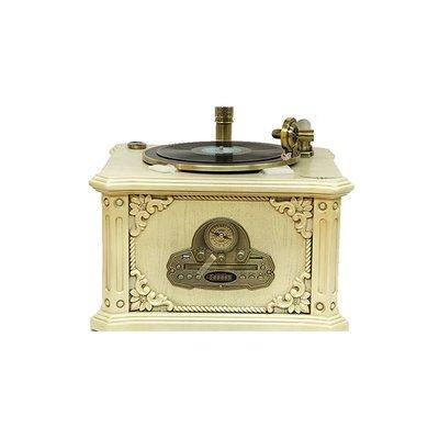 Crown Well Gramofon Beyaz