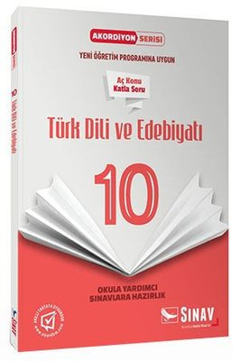 Sınav 10.Sınıf Türk Dili ve Edebiyatı Akordiyon Kitap