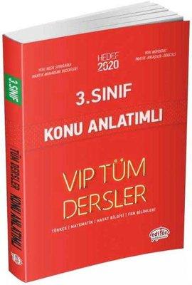 Editör 3.Sınıf VIP Tüm Dersler Konu Anlatımlı Kırmızı Kitap