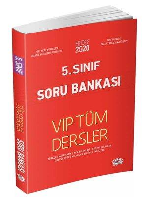 Editör 5.Sınıf VIP Tüm Dersler Soru Bankası Kırmızı Kitap
