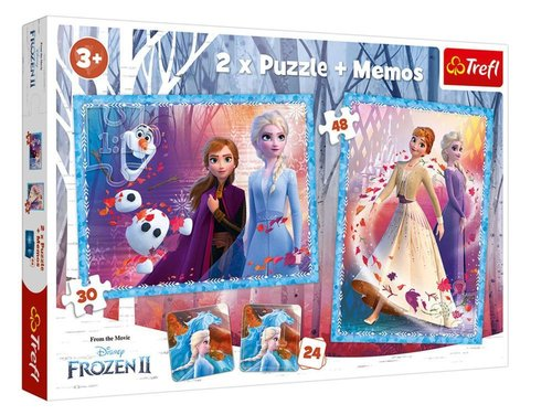Trefl Frozen2 Çocuk Puzzle 2in1 Mysterious