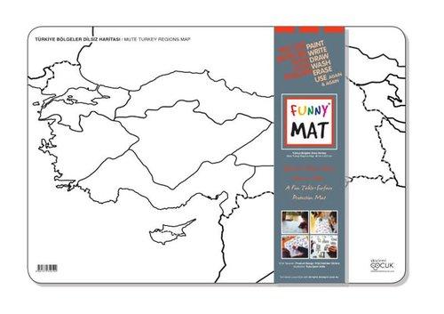 Akademi Çocuk Funny Mat - Türkiye Bölgeler Dilsiz Haritası