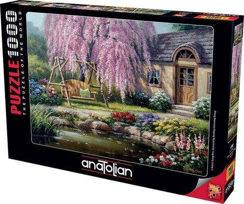 Anatolian-Puzzle 1000  Kiraz Ağacı  Cherry Blossom Cottage