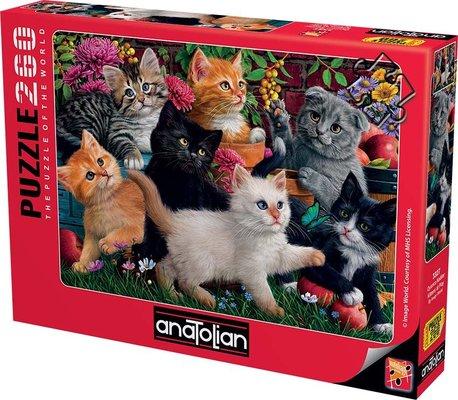Anatolian-Puzzle 260  Oyuncu Kediler  Kittens at Play